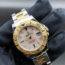 Rolex Yacht-Master Gold/Steel 35mm Mother of pearl No numerals UAE, Abu Dhabi