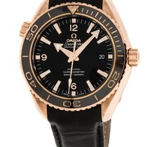 Omega Red gold Automatic Black Arabic numerals 45.5mm new Seamaster Planet Ocean