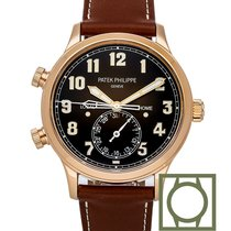 Patek Philippe Or rose Remontage automatique Brun Arabes 42mm occasion Travel Time