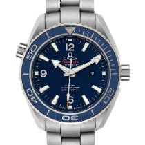 Omega Seamaster Planet Ocean pre-owned 37.5mm Blue Date Titanium