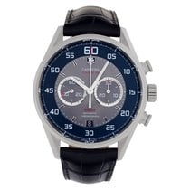 TAG Heuer Carrera Calibre 36 pre-owned 43mm Grey Chronograph Date Leather