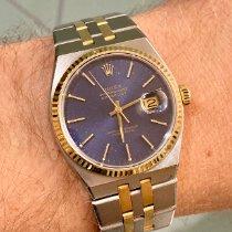 Rolex Сталь Кварцевые Синий Без цифр 36mm подержанные Datejust Oysterquartz
