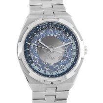 Vacheron Constantin Overseas World Time pre-owned 43.5mm Blue GMT Steel