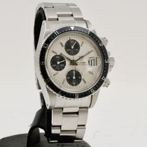 Tudor Oysterdate Big Block Steel 40mm Silver No numerals