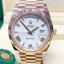 Rolex Day-Date 40 Rose gold 40mm White Roman numerals