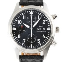 IWC Pilot Chronograph Сталь 42mm Черный