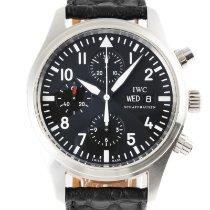 IWC Pilot Chronograph Acero 42mm Negro