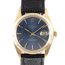 Rolex Oyster Perpetual Date Yellow gold 34mm Blue