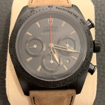 Tudor Fastrider Black Shield pre-owned 42mm Black Chronograph Date Fold clasp