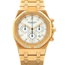 Audemars Piguet Royal Oak Chronograph Yellow gold 39mm Silver United States of America, California, Beverly Hills