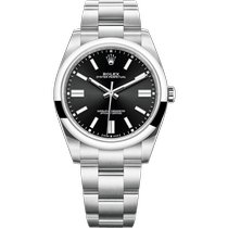 Rolex Oyster Perpetual Steel 41mm Black No numerals
