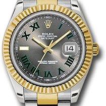 Rolex Datejust II Acero y oro 41mm Negro Romanos