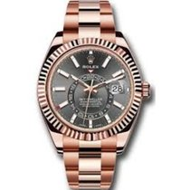 Rolex Sky-Dweller Rose gold 42mm Grey Roman numerals