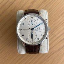 IWC Portuguese Chronograph Acier 40mm Blanc Arabes France, cannes