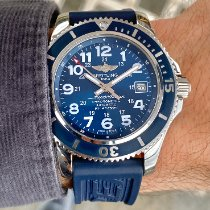 Breitling Superocean II 42 pre-owned 42mm Blue GMT Rubber