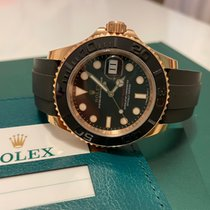 Rolex Oro rosa Automático Negro Sin cifras 40mm usados Yacht-Master 40