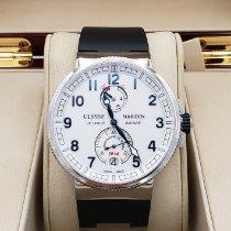 Ulysse Nardin Marine Chronometer Manufacture occasion 43mm Blanc Chronographe Date Caoutchouc