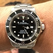 Rolex Steel Automatic Black No numerals 40mm pre-owned Sea-Dweller 4000