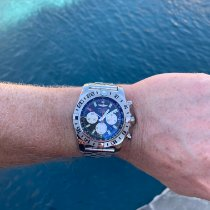 Breitling Chronomat GMT pre-owned 47mm Black Chronograph Date GMT Steel