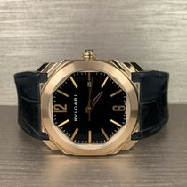 Bulgari Rose gold Automatic Black 41mm pre-owned Octo