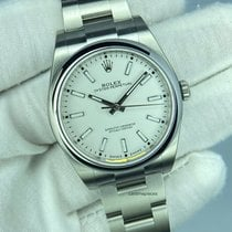 Rolex Steel Automatic White No numerals 39mm new Oyster Perpetual 39