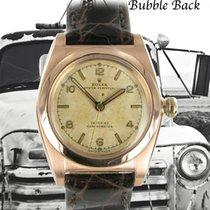 Rolex Oro rojo Automático Plata Arábigos 31mm usados Bubble Back
