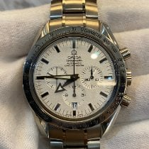 Omega Or blanc Remontage automatique Argent 42mm occasion Speedmaster Broad Arrow