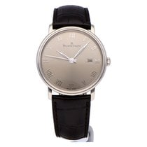 Blancpain White gold Automatic Grey Roman numerals 40mm new Villeret Ultra-Slim