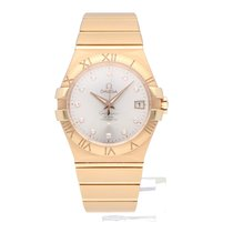 Omega Red gold Automatic Silver 35mm new Constellation Ladies