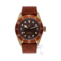 Tudor Black Bay Bronze pre-owned 43mm Brown Tachymeter Leather