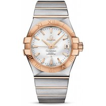 Omega Constellation Ladies Gold/Steel 35mm Silver Roman numerals