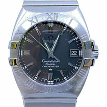 Omega Constellation Double Eagle Acero 35mm Negro Sin cifras