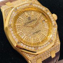 Audemars Piguet Royal Oak Selfwinding Oro amarillo 39mm Blanco Sin cifras
