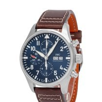 IWC Pilot Chronograph Steel 43mm Blue Arabic numerals United States of America, New York, Hartsdale