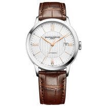 Baume & Mercier new Automatic Display back Central seconds 40mm Steel Sapphire crystal