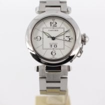 Cartier Pasha C Steel 35mm White Arabic numerals