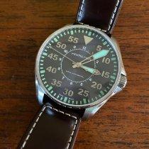 Hamilton Khaki Pilot occasion 46mm Bleu Date Cuir