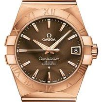 Omega Constellation Men Oro rosa 38mm Marrón