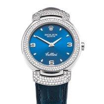 Rolex Cellini Złoto białe 26,50mm Niebieski Arabskie Polska, Rzeszów