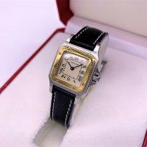 Cartier gebraucht Quarz 24mm Weiß Saphirglas