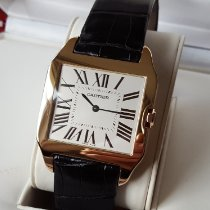 Cartier W2006951 Rose gold 2017 Santos Dumont 35mm pre-owned
