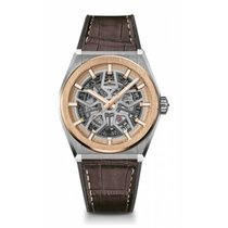 Zenith Rose gold Automatic Transparent No numerals 41mm new Defy