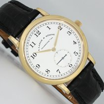 A. Lange & Söhne Red gold Manual winding Silver (solid) Arabic numerals 36mm pre-owned 1815
