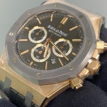 Audemars Piguet Royal Oak Chronograph Ouro rosa 41mm Preto Sem números