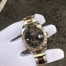Rolex Oro rosa Automático Gris Sin cifras 41mm usados Datejust II
