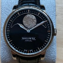 Arnold & Son HM Perpetual Moon Steel 42mm Black No numerals
