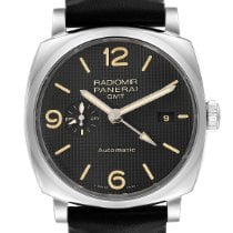 Panerai Steel Automatic Black Arabic numerals 45mm pre-owned Radiomir 1940 3 Days Automatic
