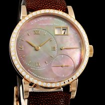 A. Lange & Söhne Little Lange 1 pre-owned 36mm Mother of pearl Leather