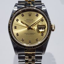 Rolex Datejust Gold/Steel 36mm Champagne