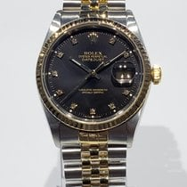 Rolex Datejust Gold/Steel 36mm Black